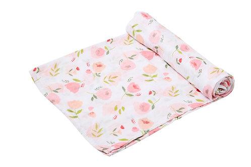 Angel Dear -  Swaddle Blanket Pretty In Pink Floral