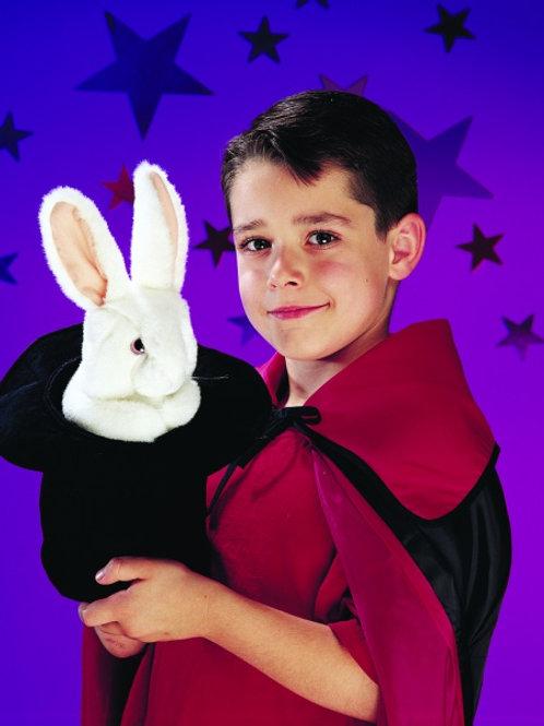 Folkmanis - Rabbit in Hat Puppet