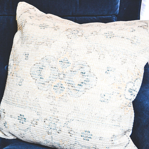 Neutral & Navy Stitched Pillow