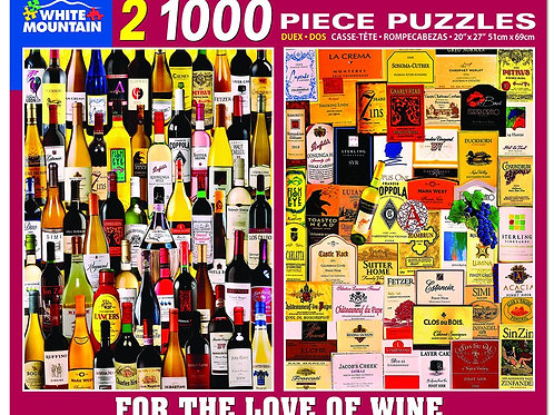For the Love of Wine - 1000 Piece Jigsaw Puzzle
