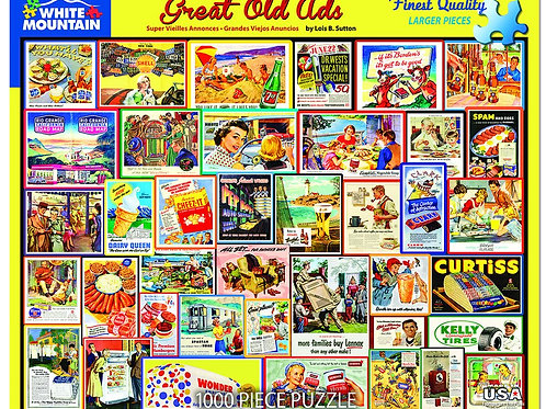 Great Old Ads Puzzle - 1000 Piece Jigsaw