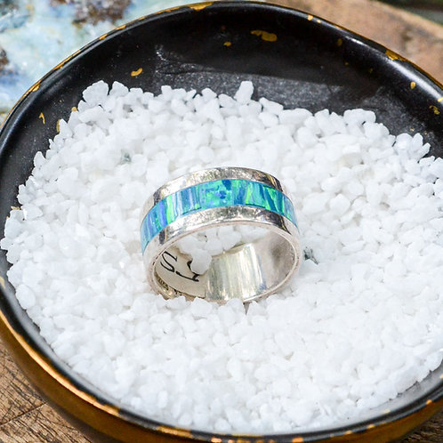 Turquoise and Sterling Silver Band Ring