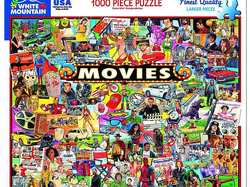 The Movies Puzzle - 1000 Piece Jigsaw