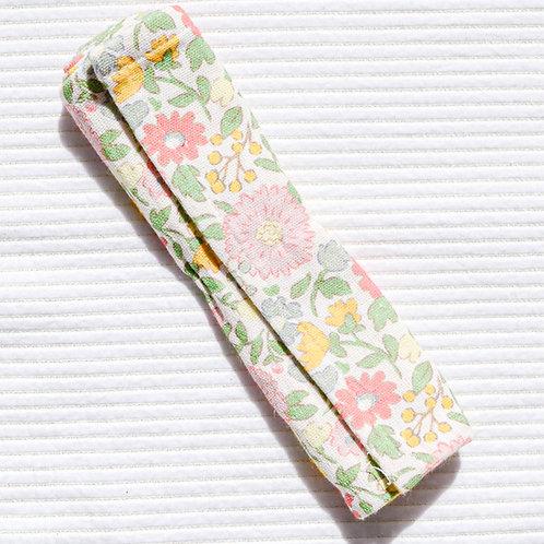 Pink Floral Print Burp Cloth