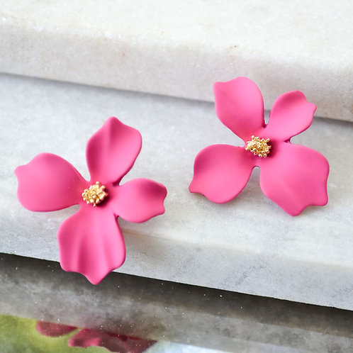 Pink Small Flower Studs