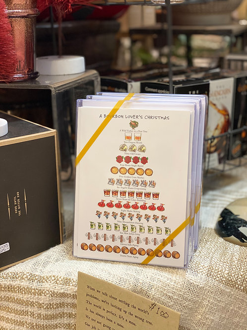 A Bourbon Lover's Christmas Holiday Cards