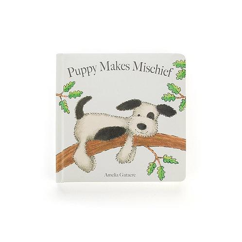 Jelly Cat - Puppy Makes Mischief Book