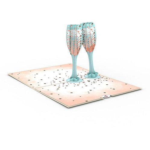 Love Pop - Champagne Toast Card