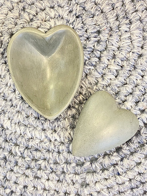 Stone Heart with Dish