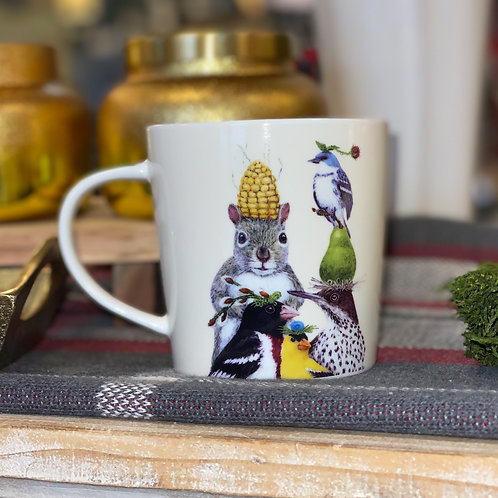 Woodland Creatures Christmas Mug