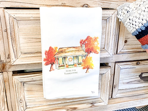 Home for Thanksgiving Tea Towel