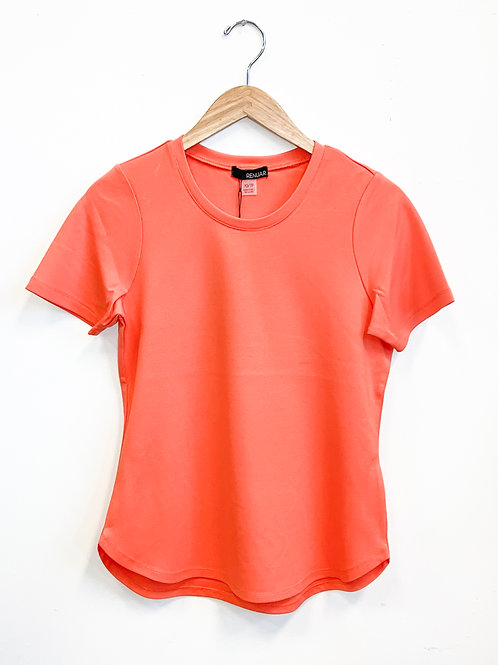 Renuar - Bring Back the Basic Tee in Coral