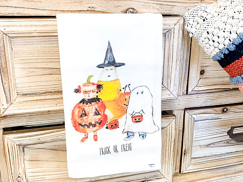 Trick or Treat Tea Towel