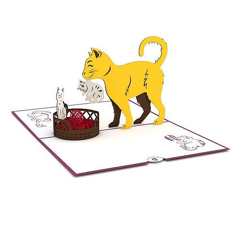 Love Pop - Cat Family Card