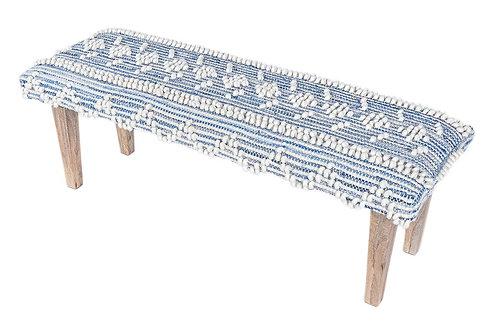 Recycled Indigo Denim Handwoven Bench