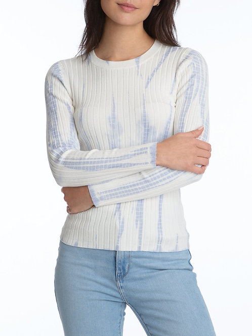 525 - Wide Rib Tie Dye Pullover