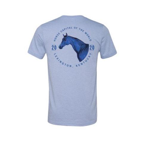 Blue Horse Circle Logo Tee