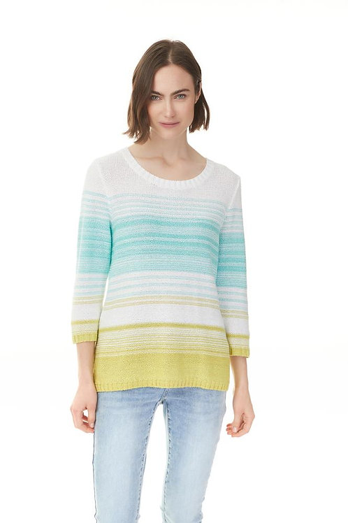 Space Dye Sweater - Lime