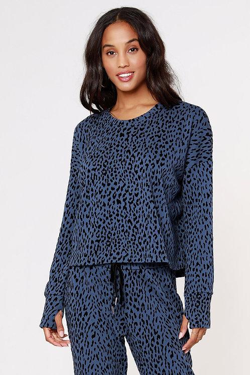 Bobi - Leopard Flocked Sweatshirt