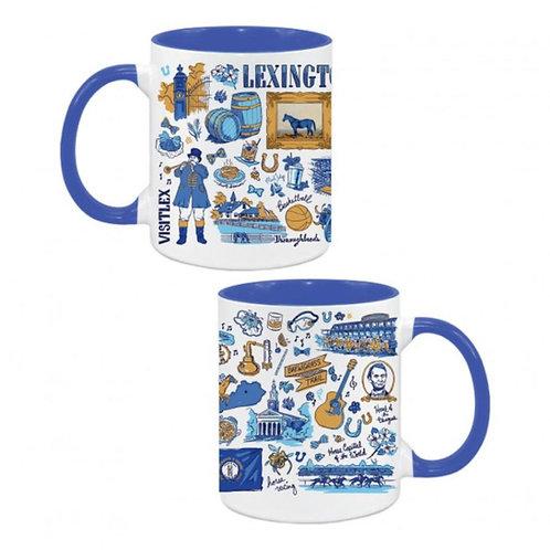 Blue Horse Doodle Mug