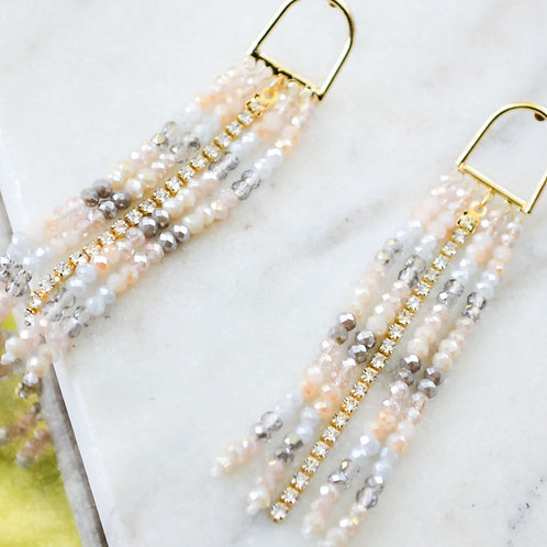 Pastel Beaded Dangle Earring