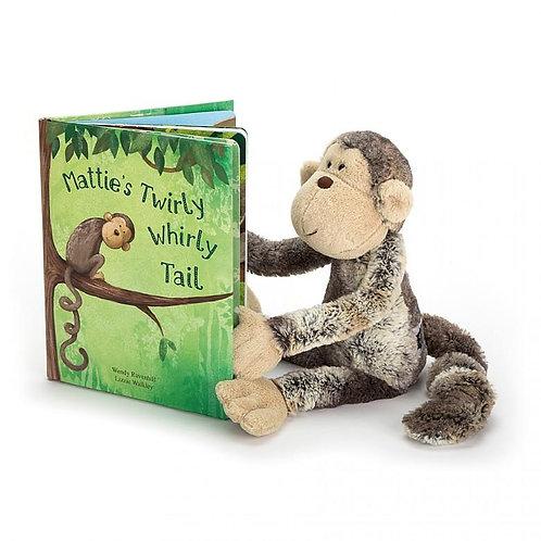 Jelly Cat - Mattie's Twirly Whirly Tail Book