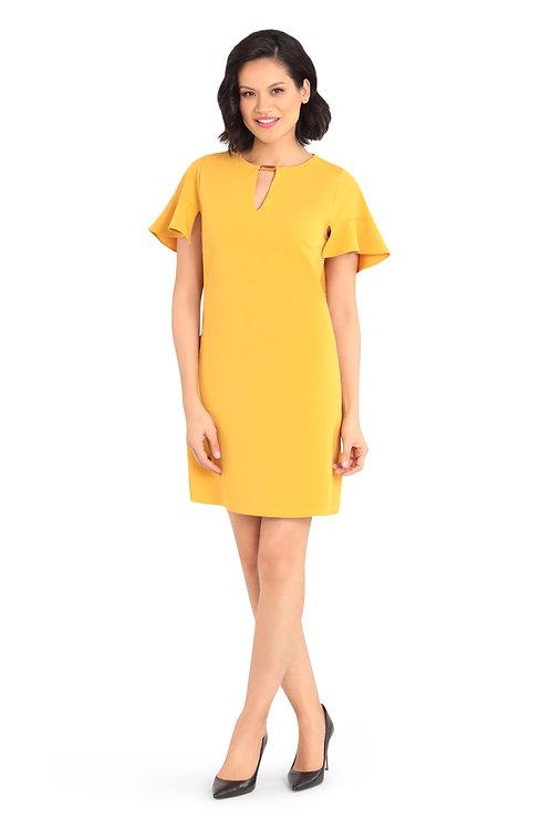 Maggy London - Ruffle Sleeve Cut Out Dress