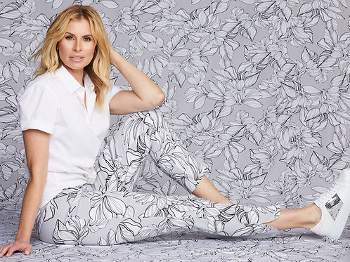 Up! -  Delray Floral Print Pant
