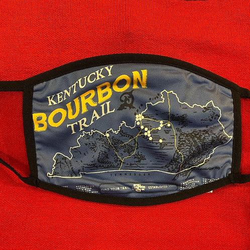 Blue Kentucky Bourbon Trail Face Mask