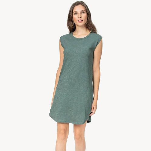 Lilla P - Cap Sleeve Tee Shirt Dress in Vine