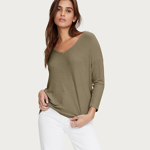 Michael Stars - Fran Ribbed V-Neck