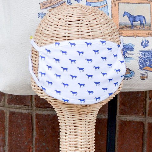 Mini Blue Horse Face Mask