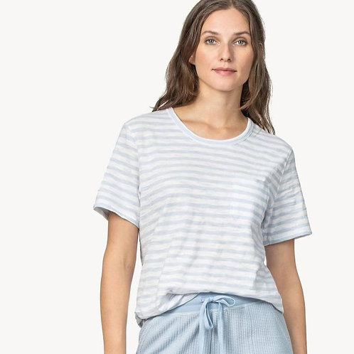 Lilla P - Striped Short Sleeve Pocket Tee