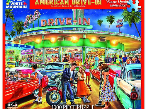 American Drive-In Puzzle - 1000 Piece Jigsaw