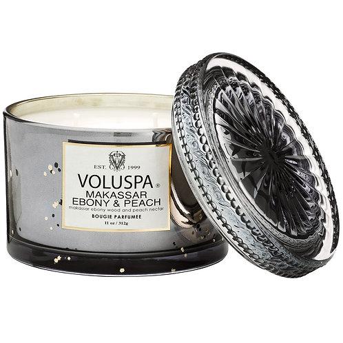 Voluspa Candle - Makassar Ebony & Peach Corta Maison Candle