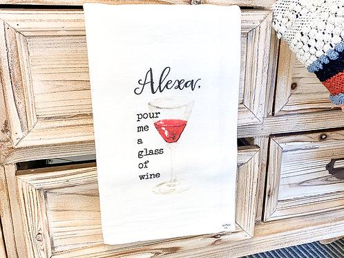 Alexa Pour Me Tea Towel