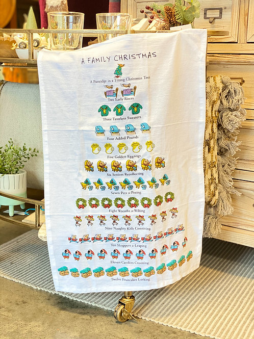 A Family Christmas Tea Towel