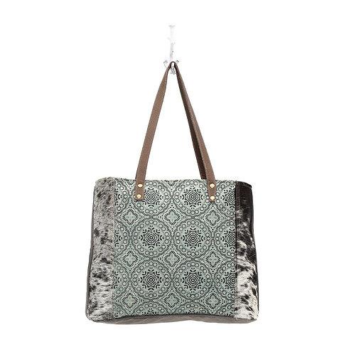 Myra Bag - Floral Chic Canvas Tote Bag