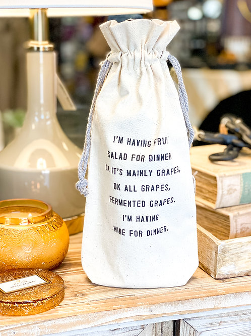 Sugarboo Canvas Wine Bags - Pick from 3 Prints