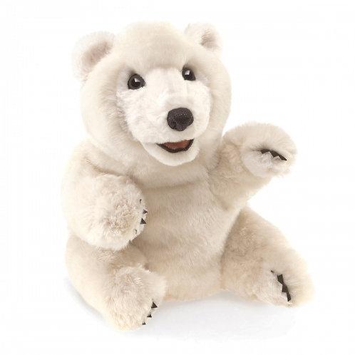 Folkmanis - Sitting Polar Bear Puppet