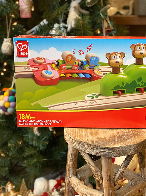 Music and Monkey Railroad Toy Set