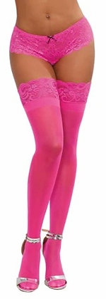 Neon Laced Stay-up Thigh High