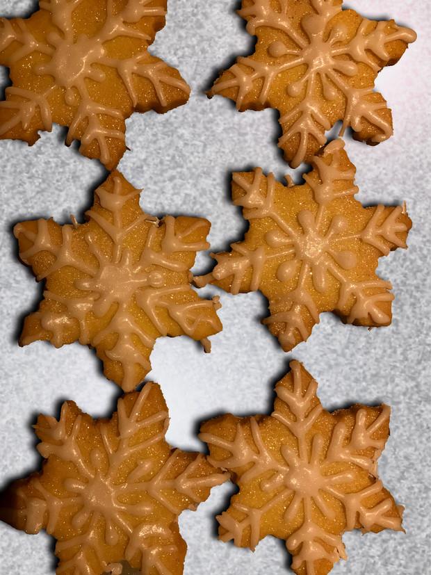 Butter Shortbread Snowflakes