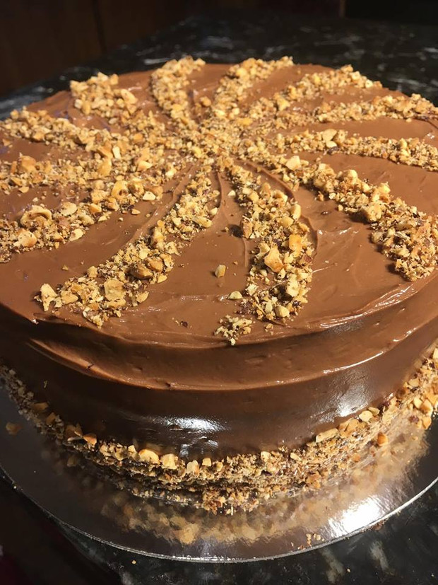 Hazelnut Latte Layer Cake
