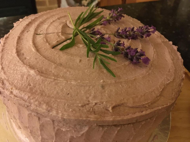 Blueberry & Lavender Layer Cake