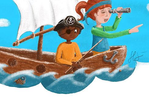 Jakob und Merle-Piraten