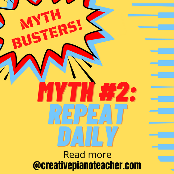 Myth #2: Practice All Your Music Every Day