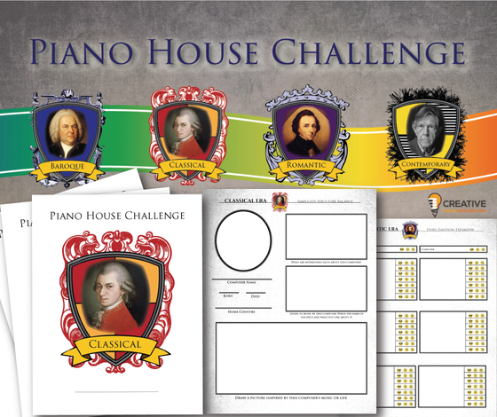 Piano House Challenge Freebie