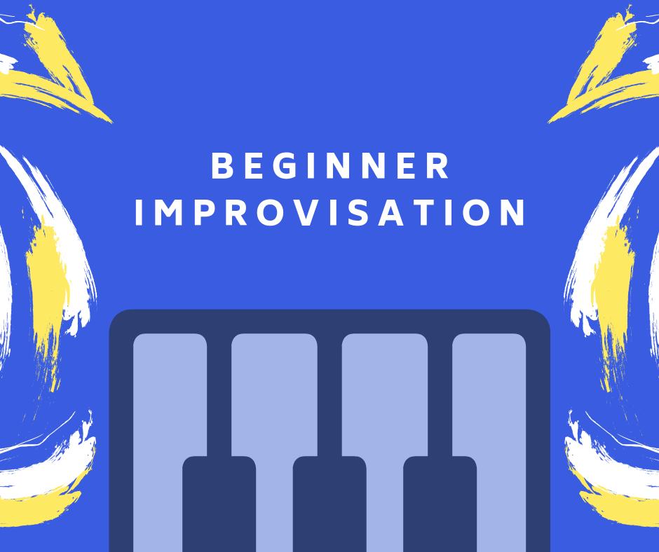 Blue Title Image with Yellow Swirls: Beginner Improvisation