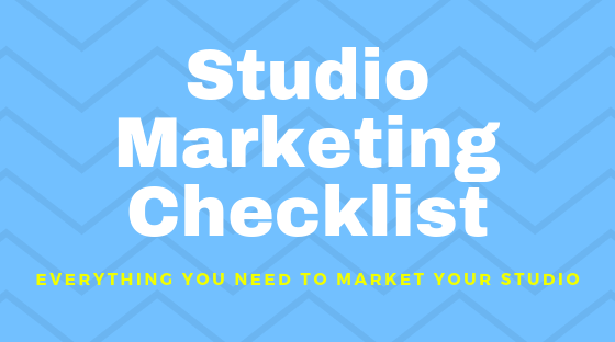 Studio Marketing Checklist